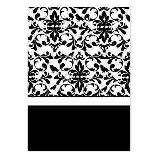 Partes movibles negros y blancos de la tarjeta de  tarjeta de visita