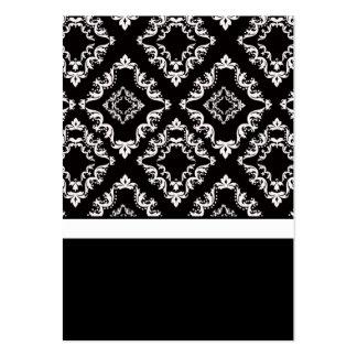 Partes movibles negros y blancos de la tarjeta de  plantilla de tarjeta de visita