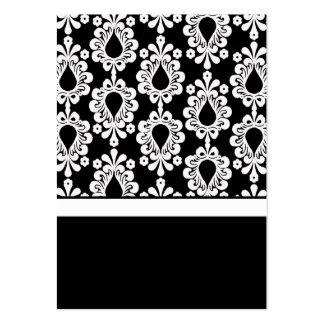 Partes movibles negros y blancos de la tarjeta de  plantilla de tarjeta de negocio