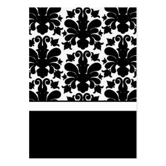 Partes movibles negros y blancos de la tarjeta de plantillas de tarjetas de visita
