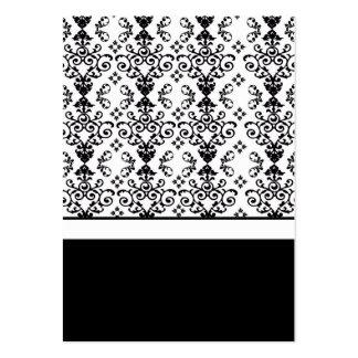 Partes movibles negros y blancos de la tarjeta de  tarjetas de visita