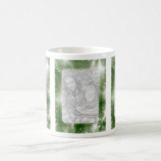 Partes movibles verdes de la foto del marco 3 de l taza