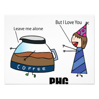 Parth Hat Girl Loves Coffee Personalized Invitations