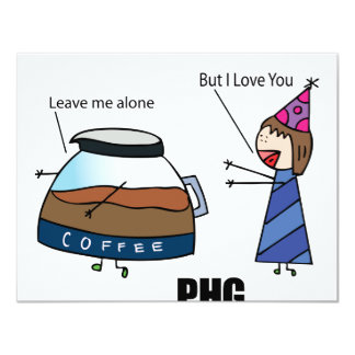 Parth Hat Girl Loves Coffee! Personalized Invitations