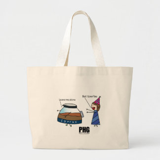 Parth Hat Girl Loves Coffee! Large Tote Bag