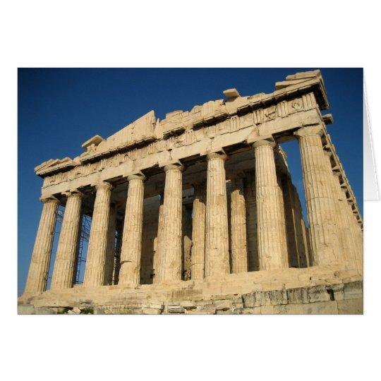 Parthenon Acropolis in Athens Card