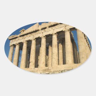 Parthenon Acropolis in Athens Oval Sticker