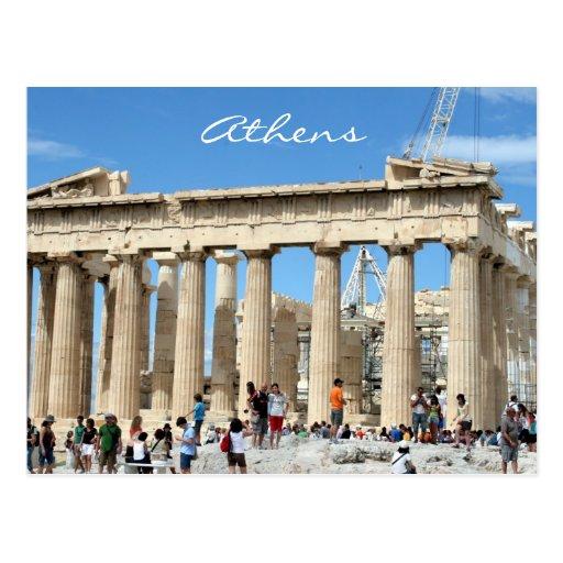 parthenon acropolis postcard