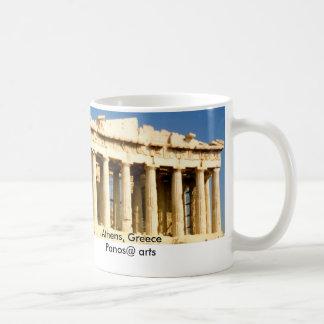 Parthenon, Atenas, Grecia Taza Básica Blanca