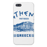 Parthenon - Atenas - Griego (azul) iPhone 5 Carcasas