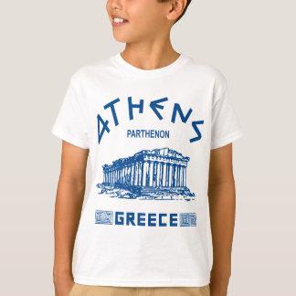 Parthenon - Atenas - Griego (azul) Remera