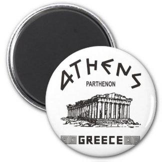 Parthenon - Atenas - Griego (negro) Imanes
