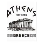 Parthenon - Atenas - Griego (negro) Postales