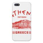 Parthenon - Atenas - Griego (rojo) iPhone 5 Cárcasa