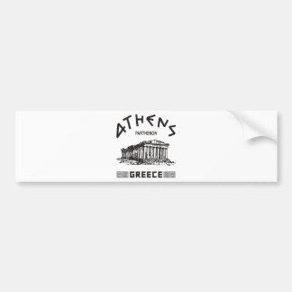 Parthenon - Athens - Greek (black) Car Bumper Sticker
