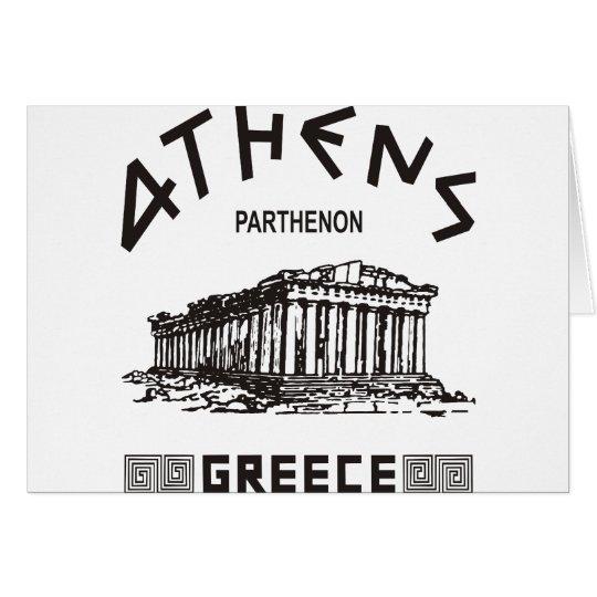 Parthenon - Athens - Greek (black) Card
