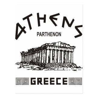 Parthenon - Athens - Greek black Post Cards