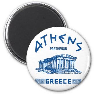 Parthenon - Athens - Greek (blue) Magnet