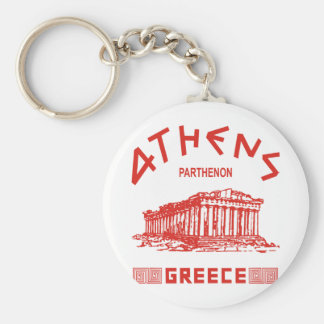 Parthenon - Athens - Greek (red) Keychain