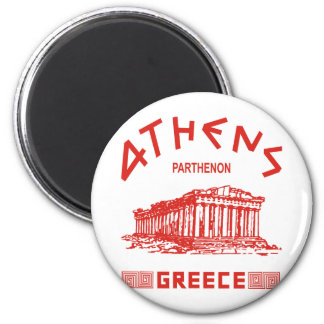 Parthenon - Athens - Greek (red) Refrigerator Magnet
