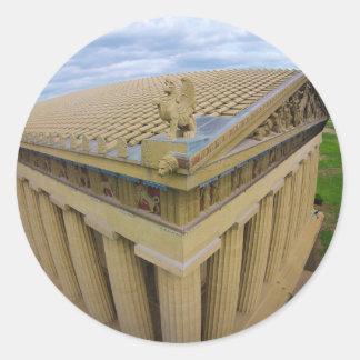Parthenon Classic Round Sticker