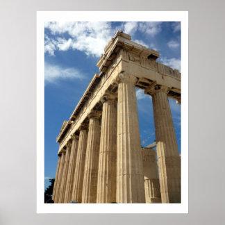 parthenon columns poster
