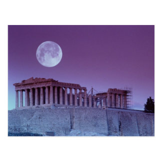 Parthenon crepuscular tarjeta postal