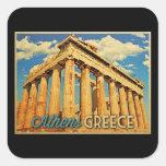 Parthenon de Atenas Grecia Pegatinas Cuadradas Personalizadas
