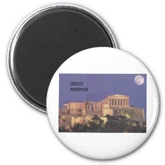 Parthenon de Grecia Atenas Akropolis (St.K) Imán Redondo 5 Cm