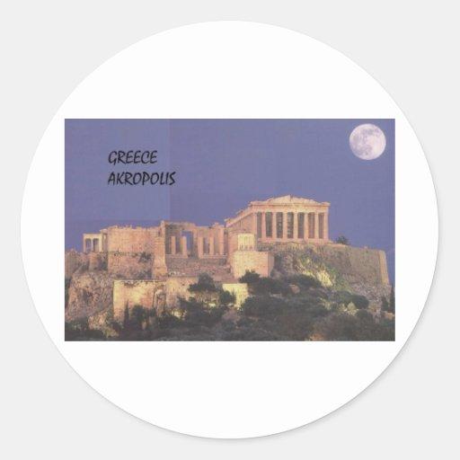 Parthenon de Grecia Atenas Akropolis (St.K) Pegatina Redonda