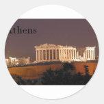 Parthenon de Grecia Atenas (St.K) Pegatina Redonda