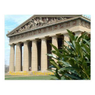 Parthenon en Nashville Tarjeta Postal