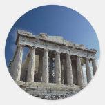 Parthenon Etiqueta Redonda