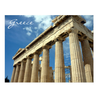 parthenon greece post card