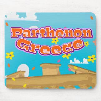 Parthenon Greece travel poster. Mouse Pad