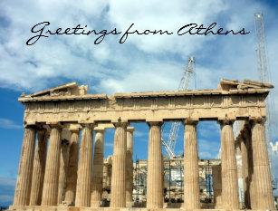 Ancient greek temples postcards zazzle parthenon greetings postcard m4hsunfo