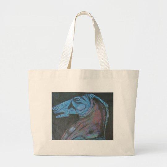 parthenon horse head large tote bag