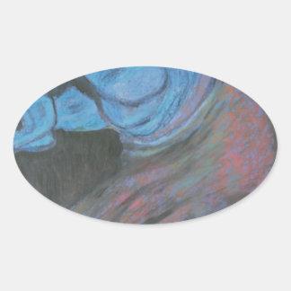 parthenon horse head oval sticker
