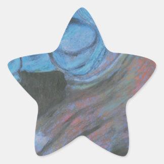 parthenon horse head star sticker