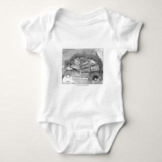Parthenon in Athens Map Baby Bodysuit