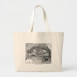 Parthenon in Athens Map Jumbo Tote Bag