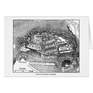 Parthenon in Athens Map Card