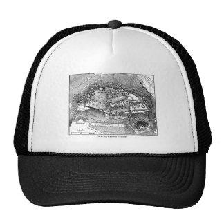 Parthenon in Athens Map Trucker Hat
