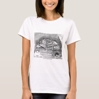 Parthenon in Athens Map T-Shirt