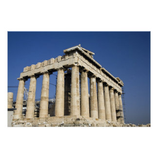 Parthenon in Greece and blue sky Posters