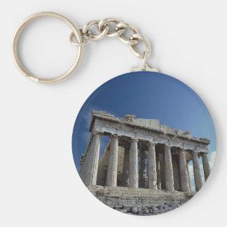 Parthenon Basic Round Button Keychain