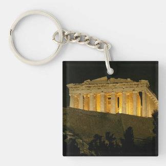 Parthenon Llavero Cuadrado Acrílico A Doble Cara