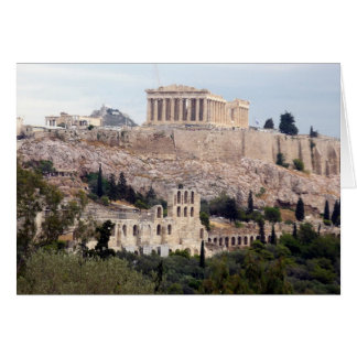 parthenon on acropolis card
