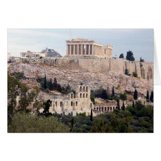 parthenon on acropolis card