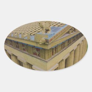 Parthenon Oval Sticker